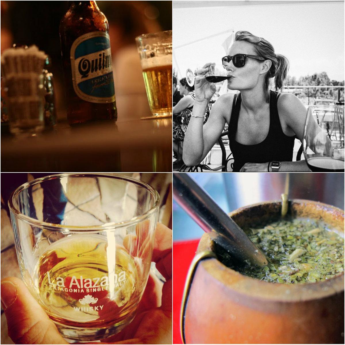 la pampa , c'est aussi la bière et le mate argentin