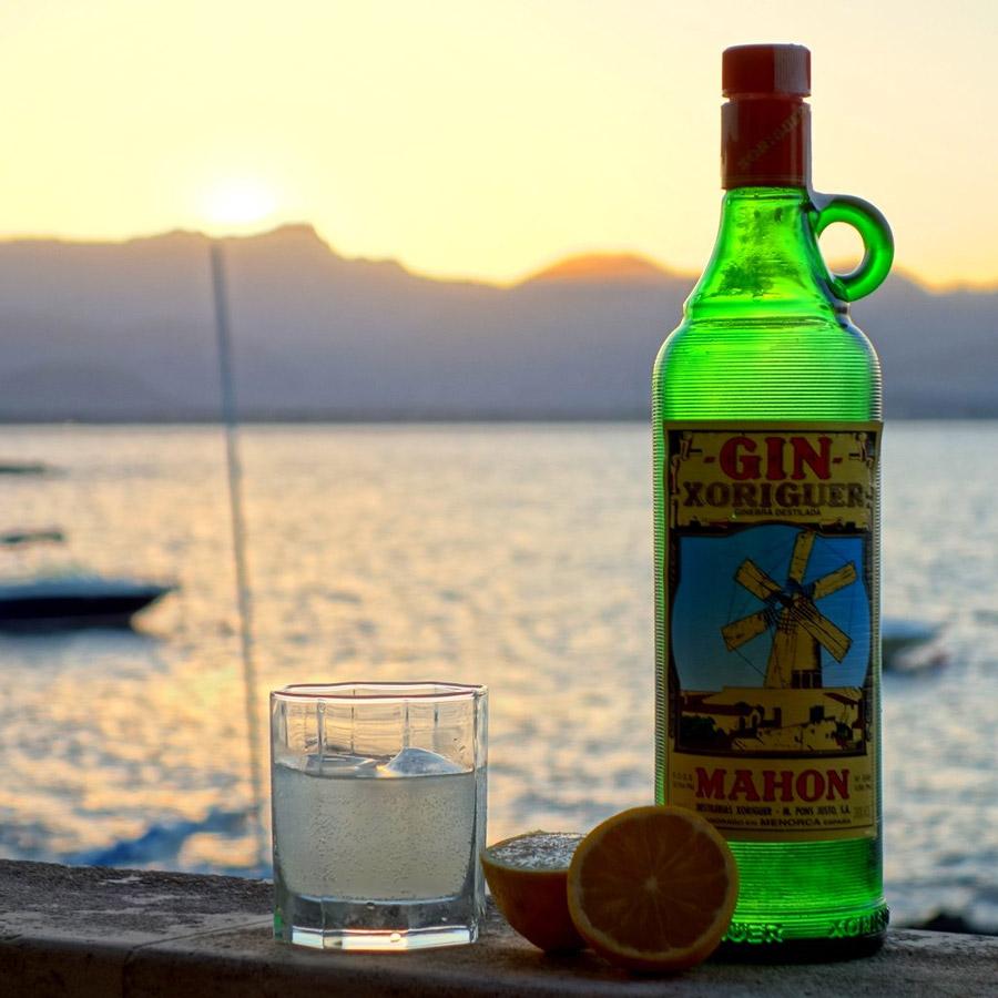 gin-xoriguer , Un gin local , parfait pour accompagner la gastronomie de Minorque